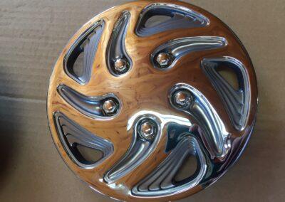 Wheel Cover Chrome Swirl