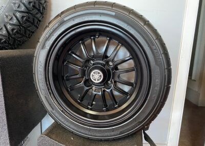 12INCH 16-SPOKE RADIAL ALLOY WHEEL ASSEMBLY WITH KENDA KRUIZER KR20A STEEL-BELTED RADIAL TIRE (NO LIFT REQUIRED)