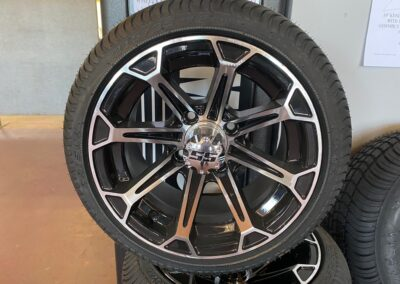 12 Vinny Machined/Black Wheels with Lo-Pro Tires
