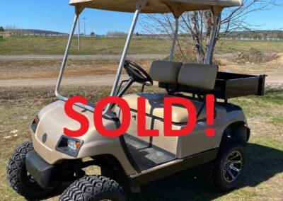 2006 Yamaha Gas G22 Golf Cars with lifts and cargo boxes